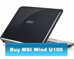 black msi wind u100 netbook