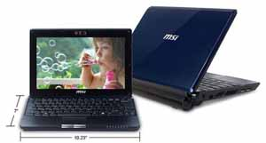 blue msi wind u123 netbook